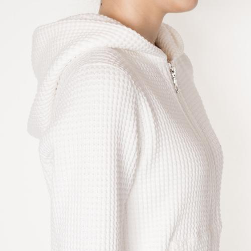 柔らかさと適度な肉厚感がある、綿100%素材です